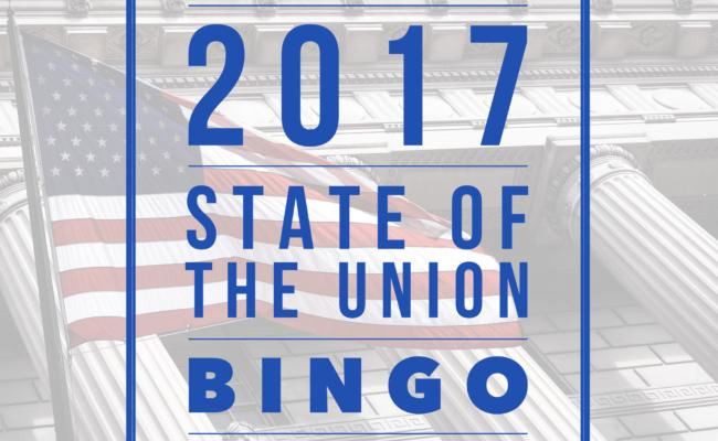 2017 State of the Union BINGO