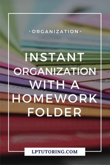Homework Folder | Teen Organization | #homeworkfolder