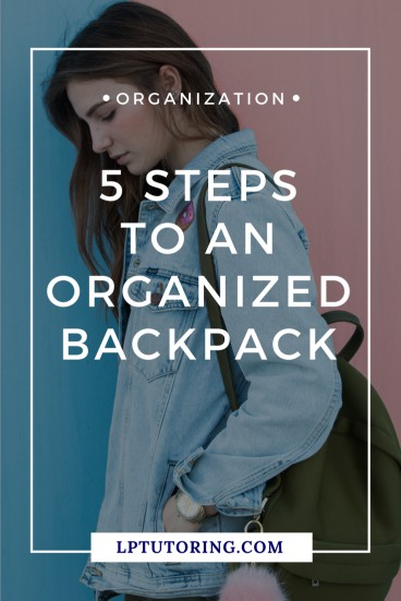 Your teen\'s junky backpack is holding him back! Learn how he can create a clean, organized backpack in 5 steps. Save time and his grades! | #Backpack #studentorganization #teenorganization #organizedteen