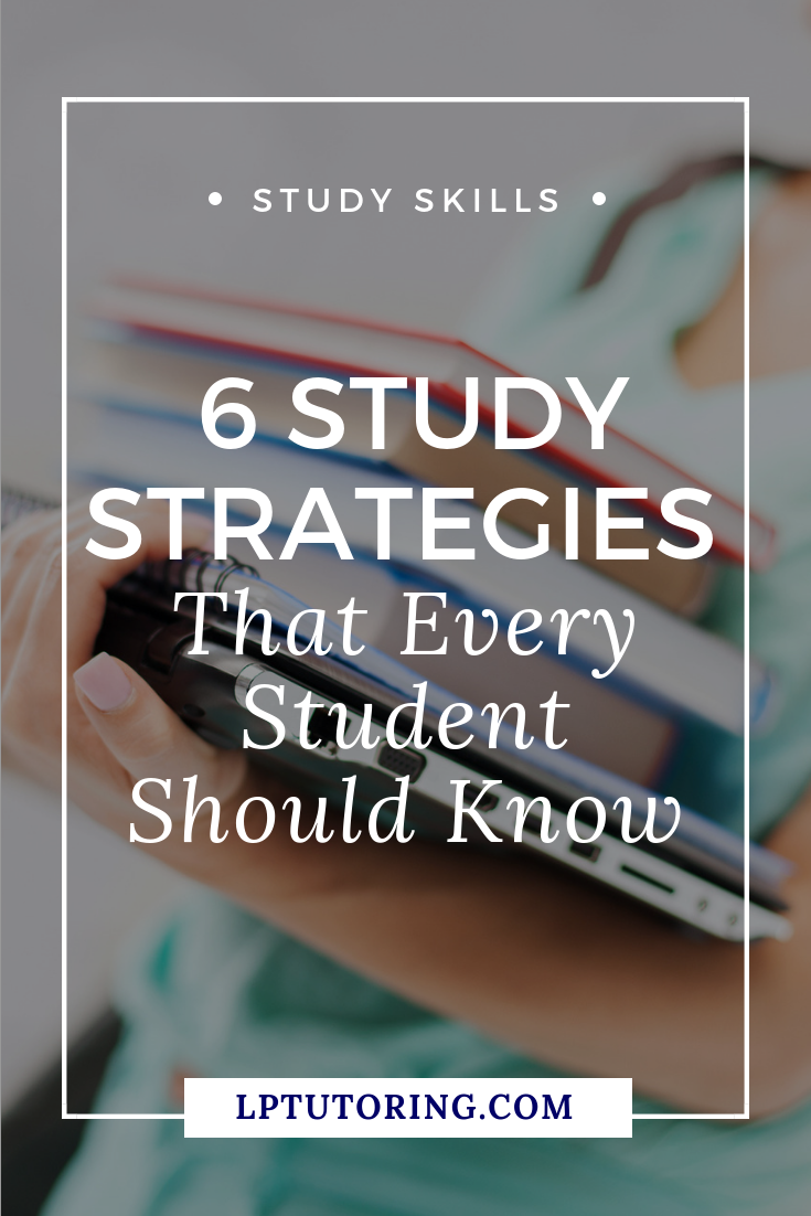 Ever tried to study, but realized that you don\'t actually know HOW to study? Dive into 6 study strategies to help you ace your next test! Click through to learn them all! #studyskills #studystrategies