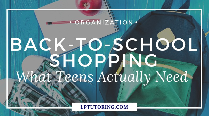 Back-to-School Supply Shopping for Teens