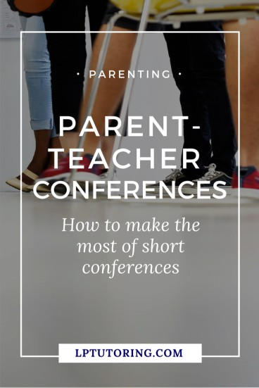 Parent-teacher conferences can be frustrating! Get my tips for more productive conferences. Click through to get a FREE planning guide with 20+ questions to ask teachers. | #parentteacherconference #middleschool #highschool #parentingteens
