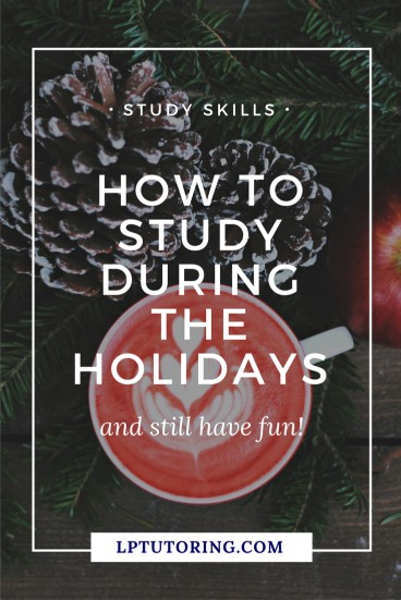 The holidays can be a difficult time to study - there are so many things to do! However, you can study effectively and still have fun! Click through to read the tips! | #studytips #studying #studyingforexam
