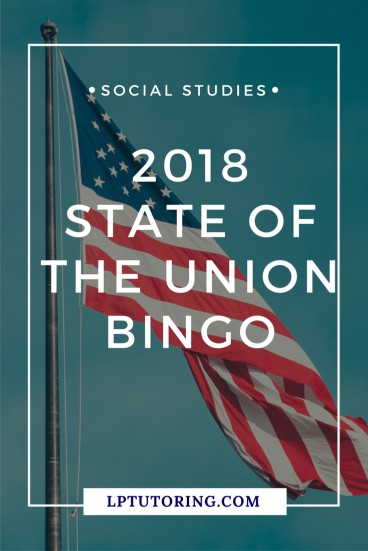 2018 State of the Union Bingo