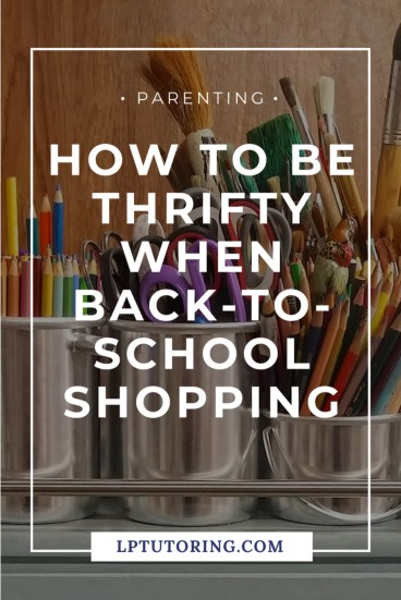School supplies can get expensive fast, but there's no need to break the bank. Find out how you can be thrifty this Back-to-School and save money! #backtoschool | #thriftyshopping