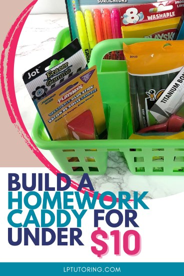 Homework Caddy: How to Create One for Cheap