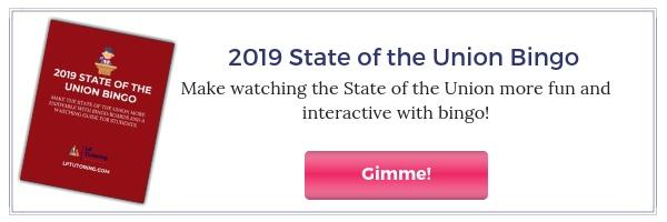 2019 State of the Union Bingo