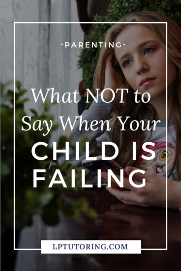 Your child is struggling or even failing a class! You want to find out what happened and get them back on track. However, this conversation can go VERY wrong. Click through to find out the wrong and right ways to talk to your child and start their academic recovery! | #failing #toughconversations