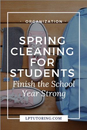 Don\'t get overwhelmed by random papers and missing work. A little academic Spring Cleaning can get you organized for the end of the school year! | #organizedteen #springcleaning