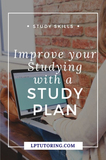 Are you studying, but not seeing the results you want? Creating a study plan will make your studying more effective and improve your grades! | #studyskills #studyplan