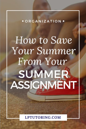 Received a summer assignment for next fall? Do some quick planning now to make sure you finish that summer assignment AND enjoy your summer! Click through to get the planning worksheet! | #summerassignment
