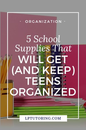 Organization is key for teens, but it can be hard to set them up for success. These 5 school supplies will help teens get organized for the school year! Click through to see them all! | #backtoschool #organization #schoolsupplies
