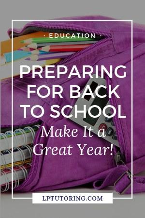 prepare back to school
