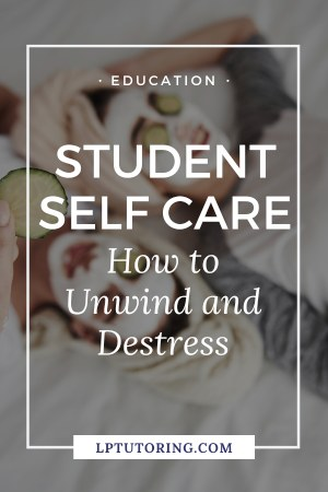 If you are always stressed, it\'s affecting your performance. Click through to learn how students can practice self care in the short term and long term! #selfcare #studentselfcare