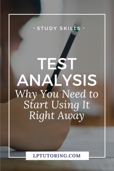 Too many students study blind! Test analysis will allow you to pinpoint strengths and weaknesses and focus your studying! Click through to learn how to analyze your tests and increase your test grades! | #testprep #testanalysis #studyskills