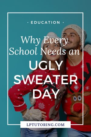 December in schools can be brutal with exams and stress. Set up a fun inclusive day of ugly sweaters to lighten the mood and celebrate! #uglysweaters #holidayfun