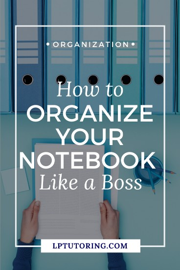 organized notebook