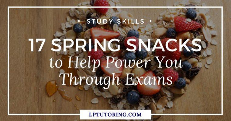 17 Spring Study Snacks to Help Power You Through Exams