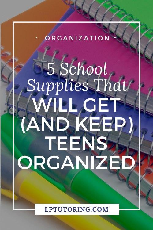 organization school supplies